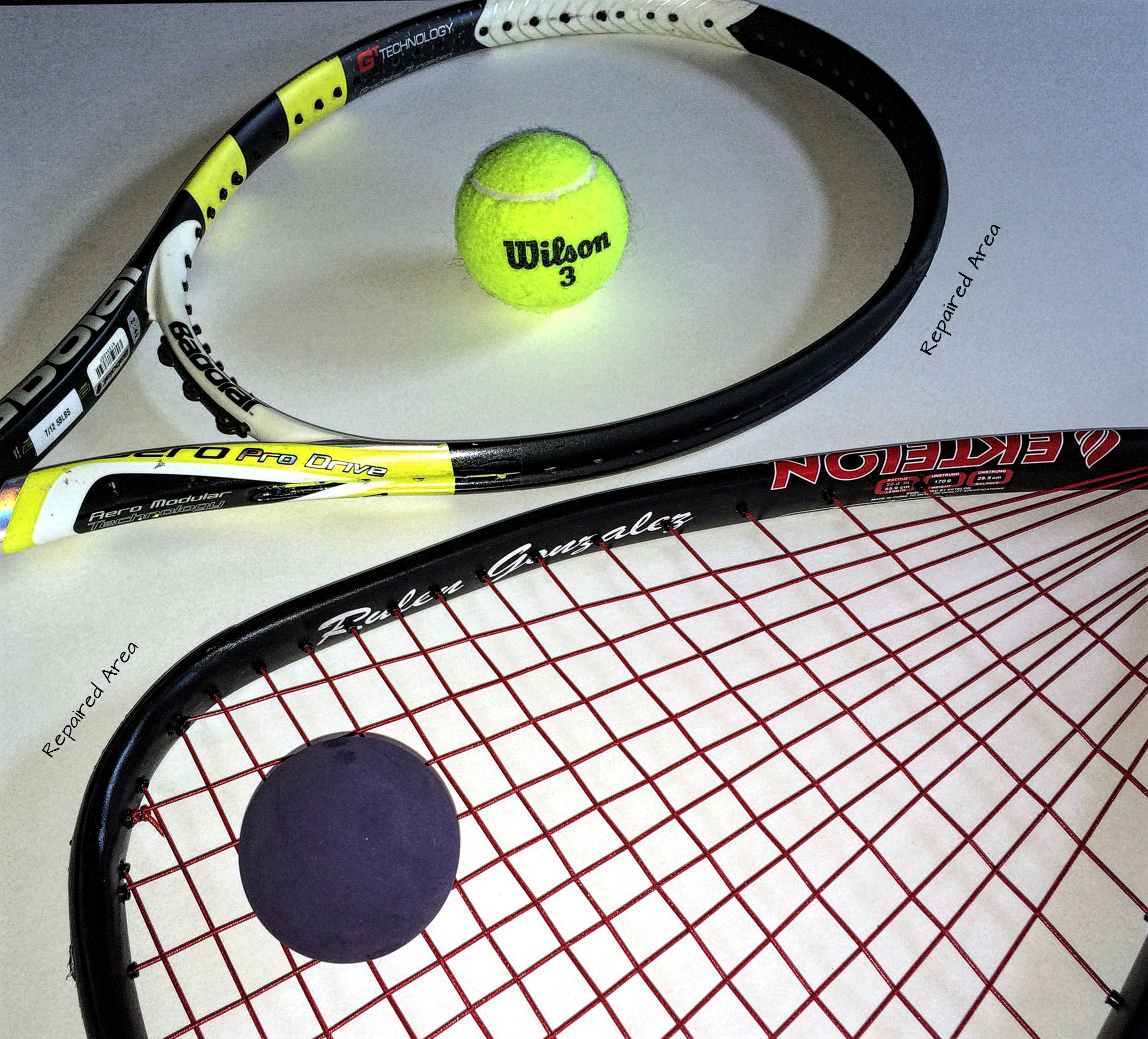 Double racquet Repaired